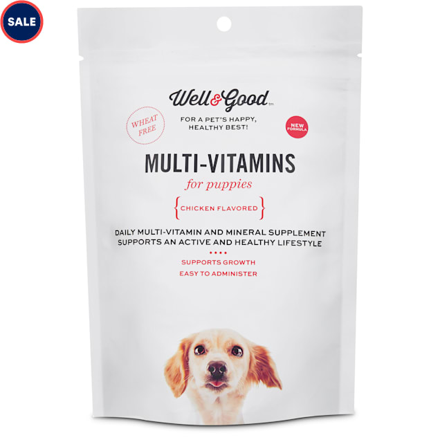 Well & Good Puppy Stage Daily Soft Chews Dog Vitamins, 60 count - Carousel image #1