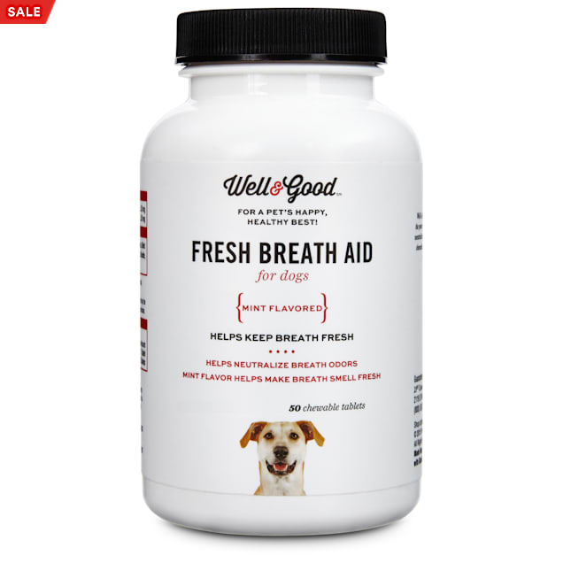 Well & Good Fresh Breath Dog Tablets, 50 count - Carousel image #1