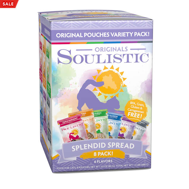 Soulistic Originals Splendid Spread Variety Pack Wet Cat Food, 3 oz., Count of 8 - Carousel image #1