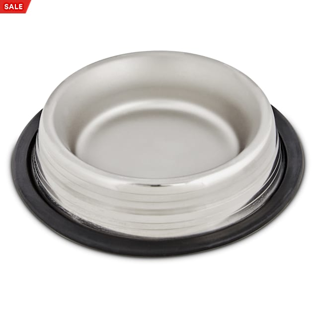 Harmony Two-Toned No-Tip Stainless Steel Dog Bowl, 1 Cup - Carousel image #1