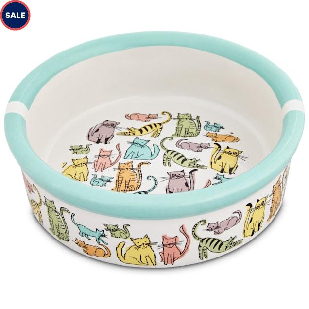 "Harmony Cat Town Ceramic Cat Bowl, 1.75"" H X 5"" Diameter, 1 Cup - Carousel image #1"