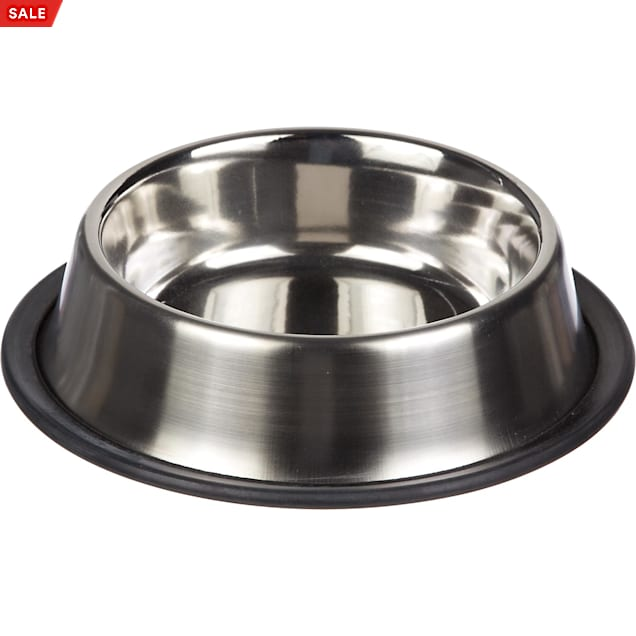 Harmony Brushed Stainless Steel No-Tip Cat Bowl, 1 c. - Carousel image #1