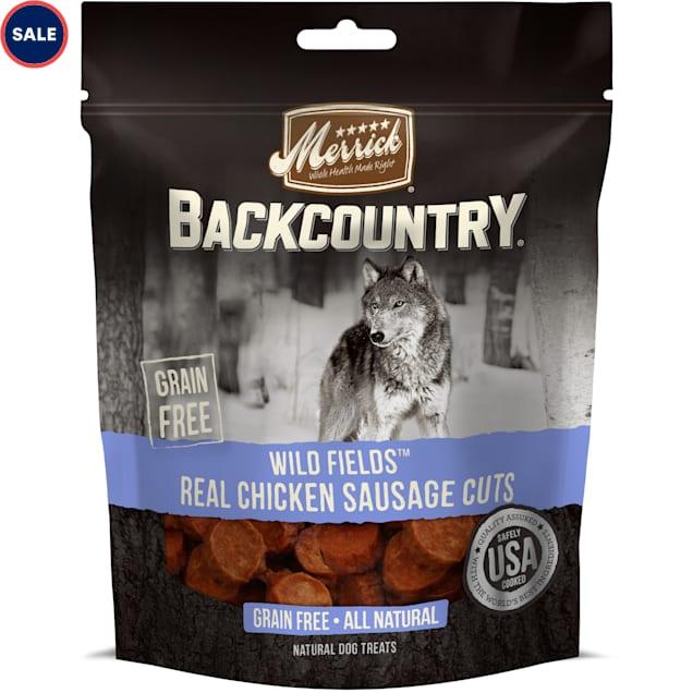 Merrick Backcountry Wild Prairie Real Chicken Sausage Cuts Grain Free Dog Treats, 5 oz. - Carousel image #1
