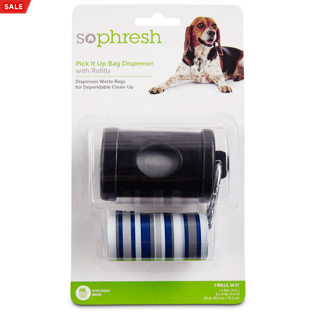 So Phresh Pick It Up Black Dog Bag Dispenser with Refill, 30 count - Carousel image #1