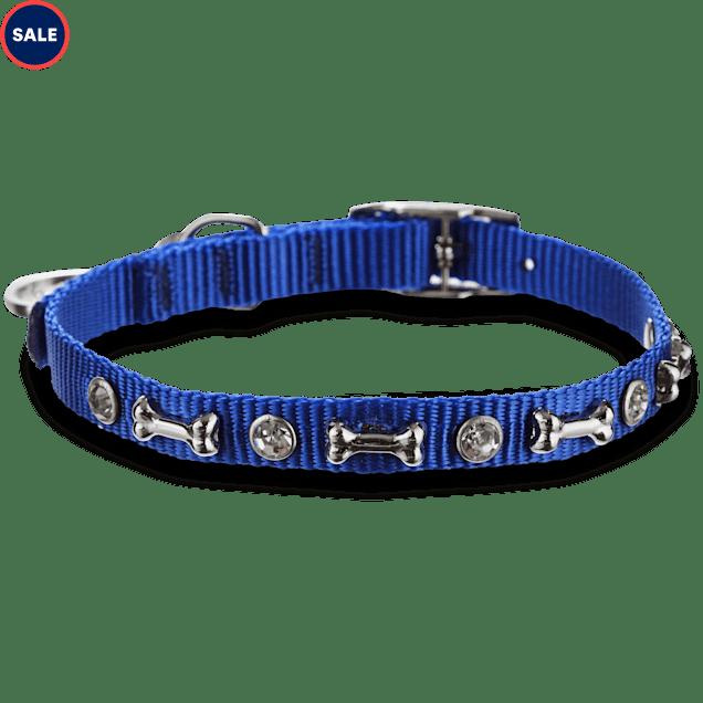 """Bond & Co. Blue Bling Collar, For Necks 10""""-12"""" - Carousel image #1"""