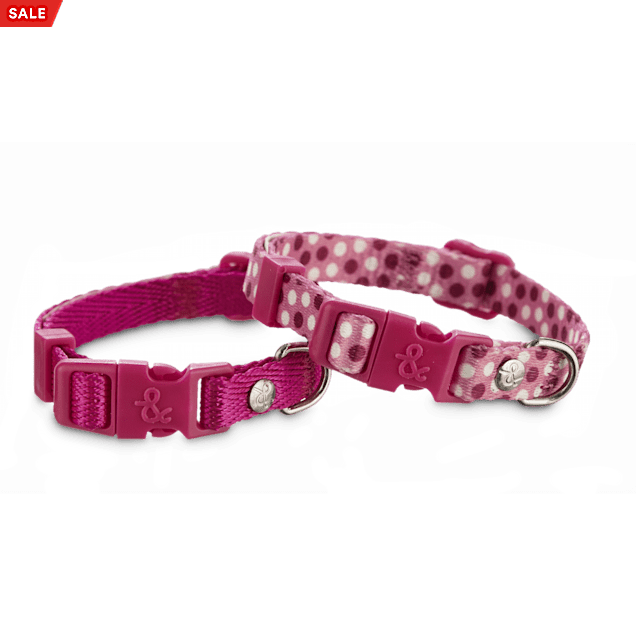 "Bond & Co. Pink Adjustable Collar 2 Pack, For Necks 8""-12"" - Carousel image #1"