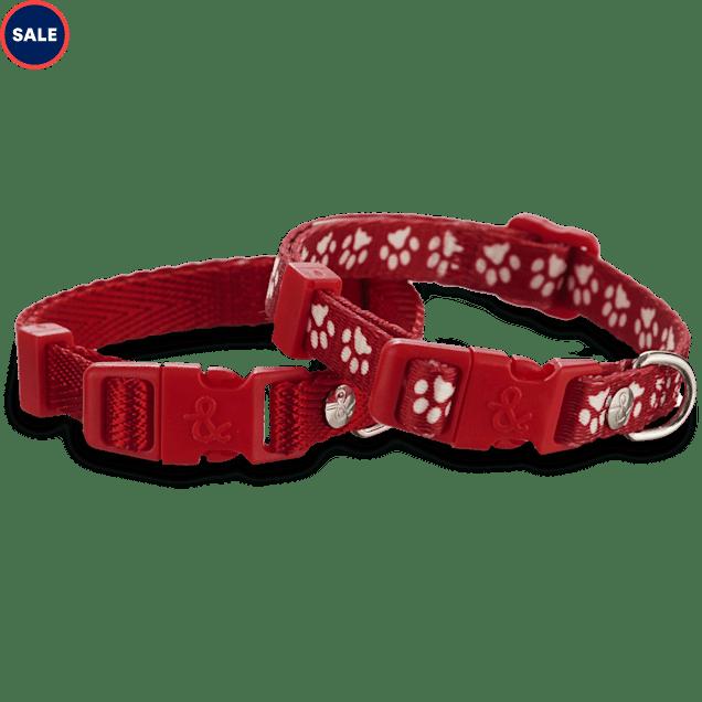 "Bond & Co. Red Adjustable Collar 2 Pack, For Necks 8""-12"" - Carousel image #1"