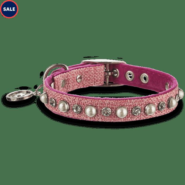 "Bond & Co. Pink Pearl Collar, For Necks 10""-12"" - Carousel image #1"