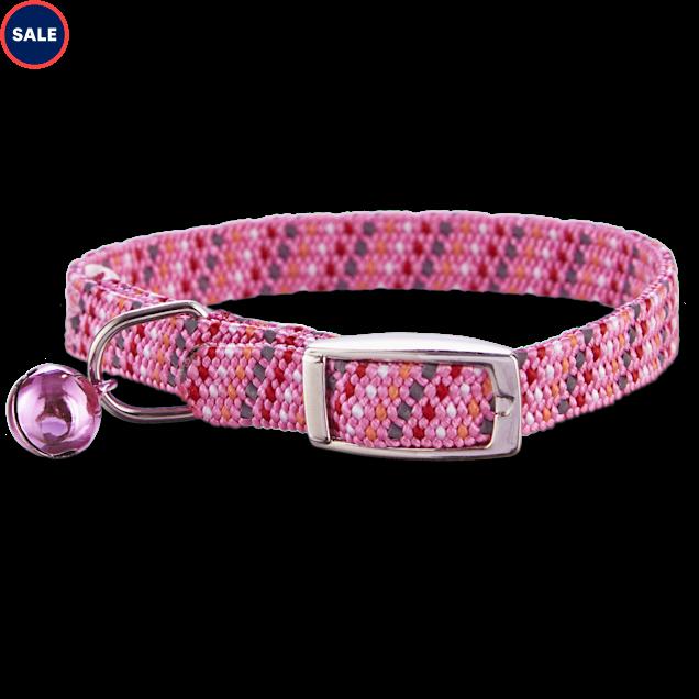 Bond & Co Pink & Gray Reflective Kitten Collar - Carousel image #1