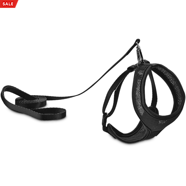 Good2Go Black Mesh Cat Harness & Lead Set - Carousel image #1