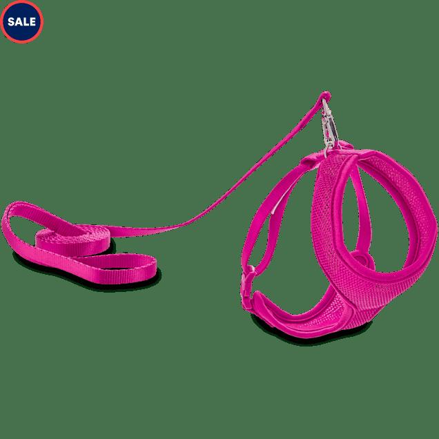 Good2Go Pink Mesh Cat Harness & Lead Set - Carousel image #1