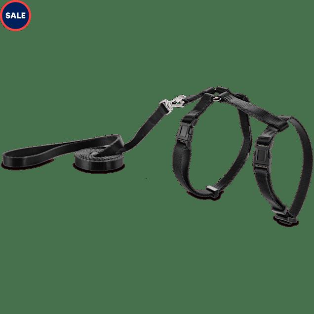 Good2Go Black Kitten Harness and Lead Set - Carousel image #1