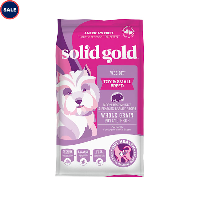Solid Gold Wee Bit Holistic Bison, Brown Rice & Pearled Barley Recipe Dry Dog Food, 12 lbs. - Carousel image #1
