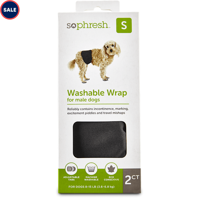 So Phresh Washable Wrap for Male Dogs, Small - Carousel image #1