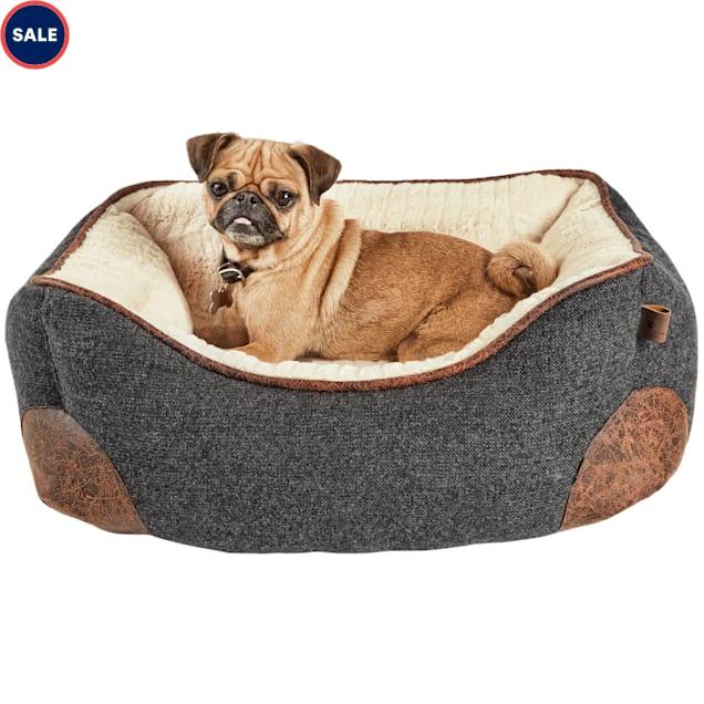 "Harmony Grey Nester Memory Foam Dog Bed, 24"" L x 18"" W - Carousel image #1"