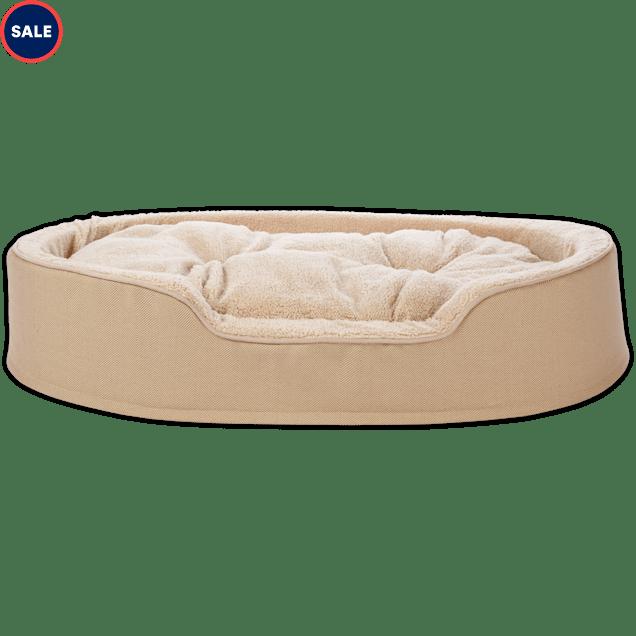 "Harmony Cuddler Orthopedic Dog Bed in Khaki, 43"" L x 27"" W - Carousel image #1"