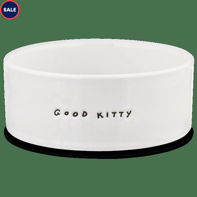 Harmony Good Kitty Ceramic Cat Bowl, 1 Cup - Carousel image #1