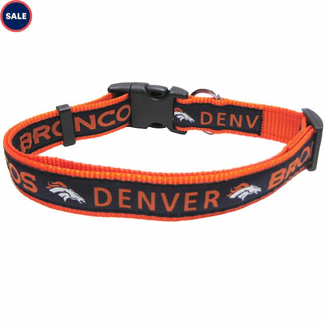 Pets First Denver Broncos NFL Dog Collar, Small - Carousel image #1