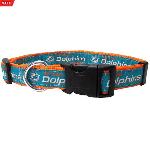 Pets First Miami Dolphins NFL Dog Collar, Small - Carousel image #1