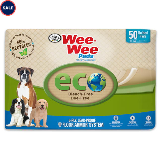 Wee-Wee ECO Pads For Dogs, Count of 50 - Carousel image #1