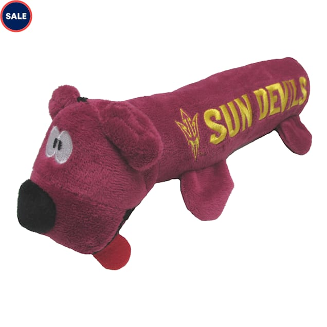 Pets First Arizona State Sun Devils NCAA Plush Bear Tube Toy for Dogs, Large - Carousel image #1