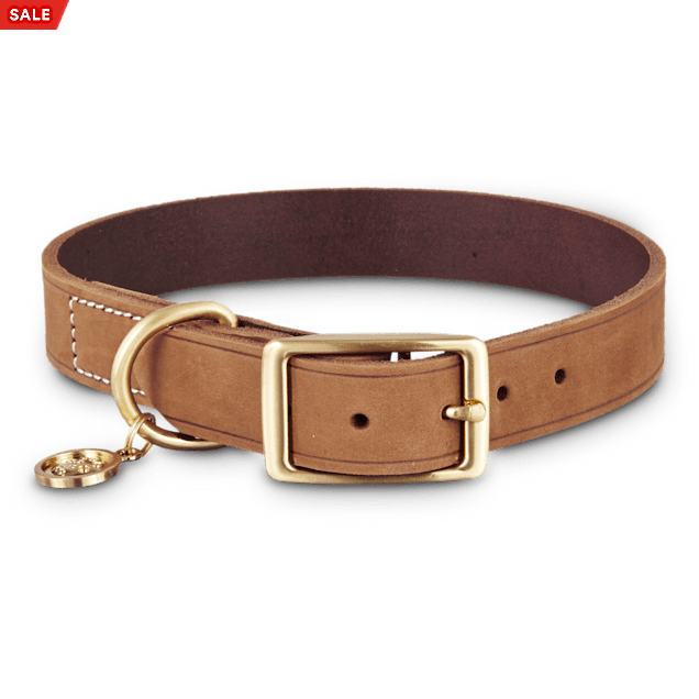 Bond & Co. Copper Suede Dog Collar, Large - Carousel image #1