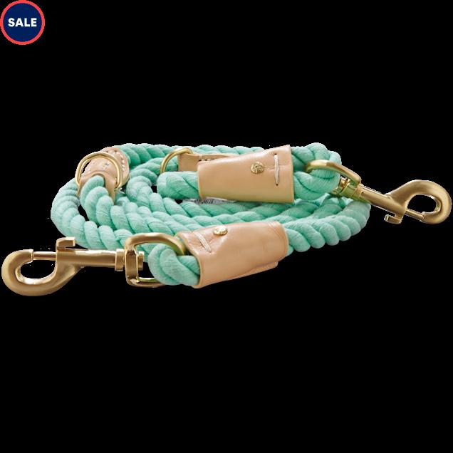 Bond & Co. Turquoise & Buff Rope Dog Leash, 6 Ft | Petco