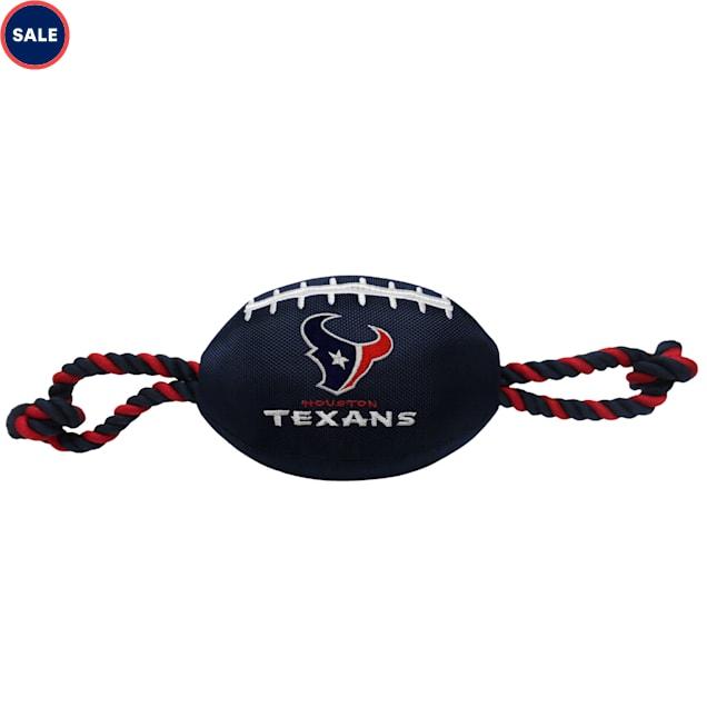 Pets First Houston Texans Nylon Football Dog Toy - Carousel image #1