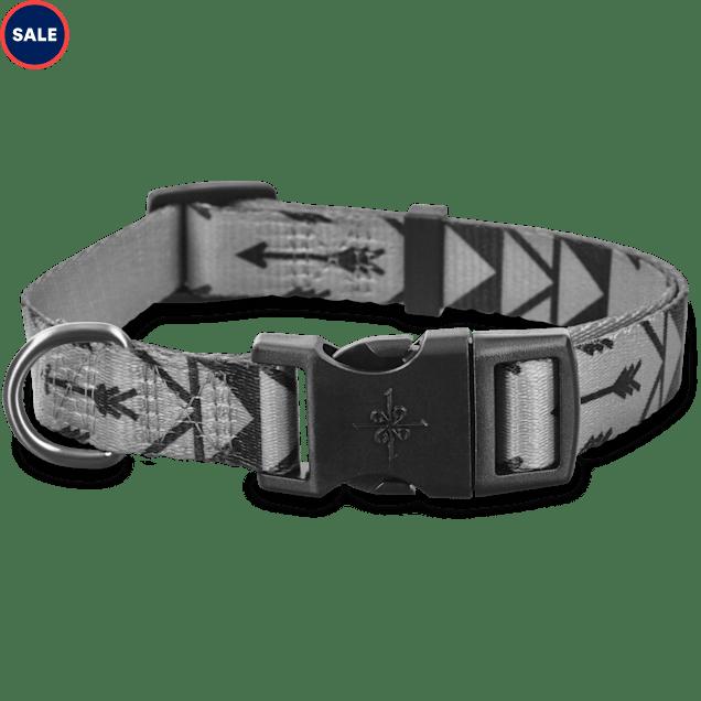 Good2Go Grey Arrow Print Dog Collar, Large - Carousel image #1