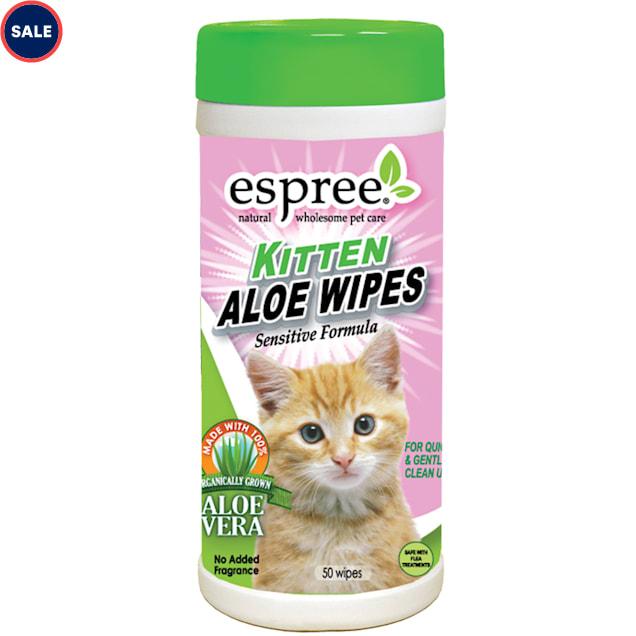 Espree Kitten Aloe Wipes, 50 count - Carousel image #1