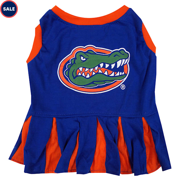 Pets First Florida Gators Cheerleading Outfit, X-Small - Carousel image #1