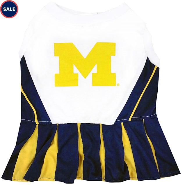 Pets First Michigan Wolverines Cheerleading Outfit, X-Small - Carousel image #1