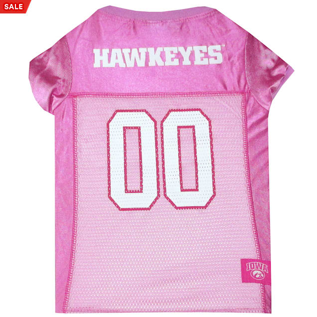 Pets First Iowa Hawkeyes Pink Jersey, X-Small - Carousel image #1