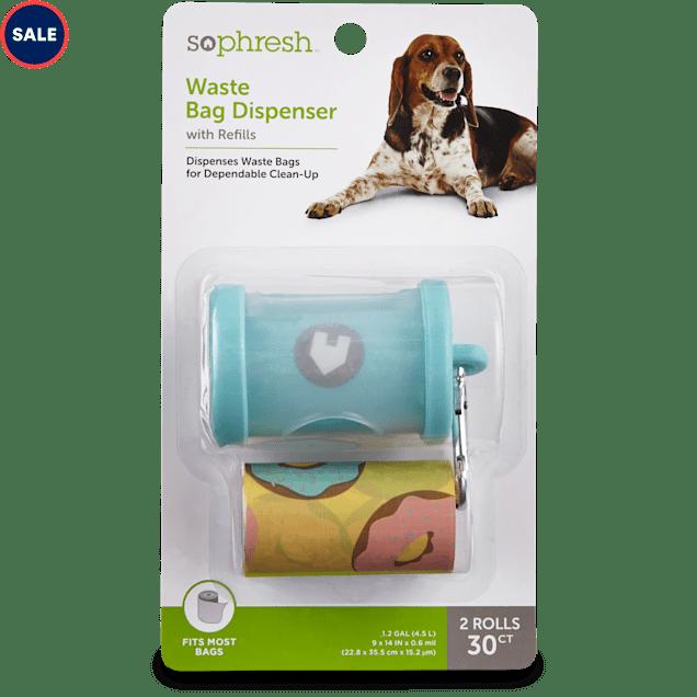 So Phresh Teal Dog Waste Bag Dispenser with Refills, 30 CT - Carousel image #1