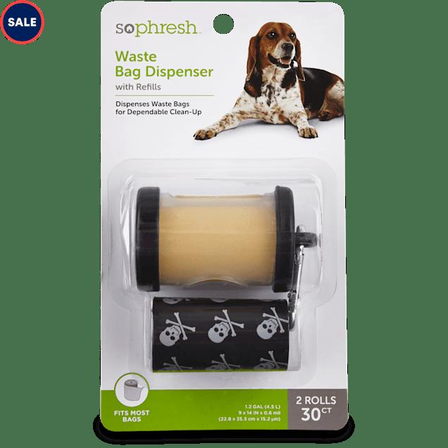So Phresh Black Dog Waste Bag Dispenser with Refills, 30 CT - Carousel image #1