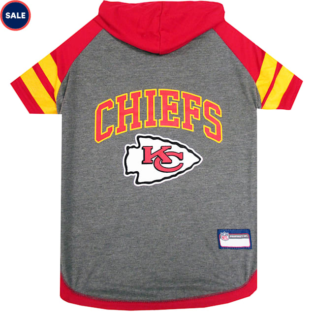 Pets First Kansas City Chiefs Hoodie Tee Shirt For Dogs, X-Small - Carousel image #1