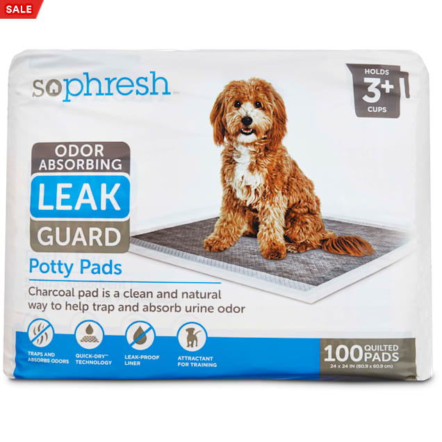 So Phresh Odor Absorbing Leak Guard Potty Pads, Count of 100 - Carousel image #1