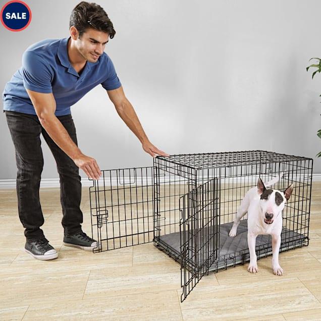 """You & Me Ultra Tough 2-Door Folding Dog Crate, 37""""L x 24""""W x 25""""H - Carousel image #1"""