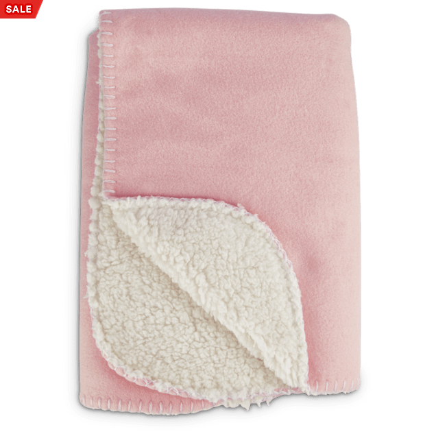 "Harmony Cozy Sherpa Pet Throw in Pink, 24"" x 24"" - Carousel image #1"