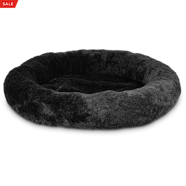 """Harmony Oval Cat Bed in Black, 17"""" L x 14"""" W - Carousel image #1"""
