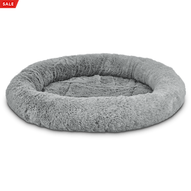 """Harmony Oval Cat Bed in Grey, 17"""" L x 14"""" W - Carousel image #1"""