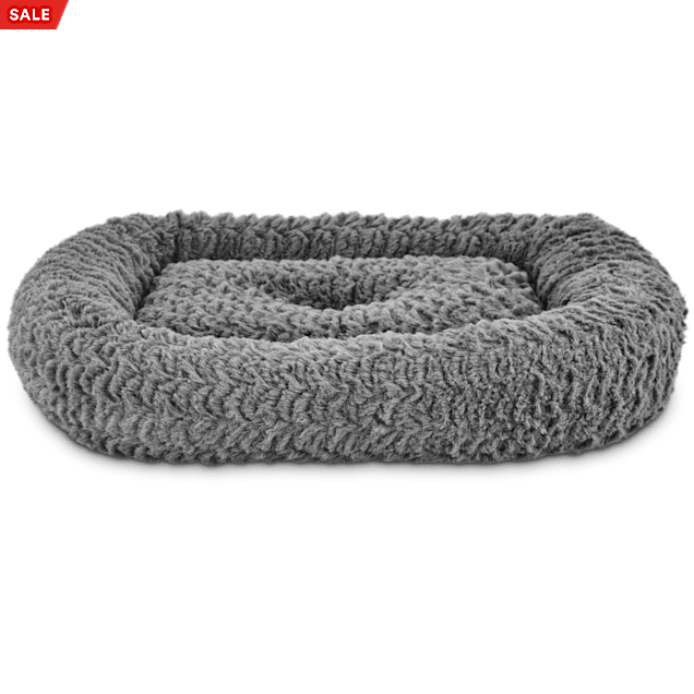 """Harmony Rectangle Cat Bed in Grey, 19"""" L x 16"""" W - Carousel image #1"""
