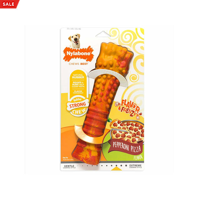 Nylabone Flavor Frenzy Pepperoni Pizza Dog Toy, Souper - Carousel image #1
