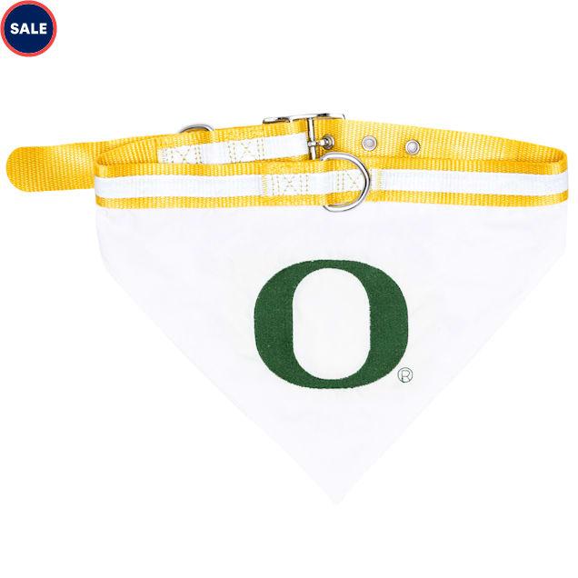Pets First Oregon Ducks NCAA Dog Collar Bandana, Small - Carousel image #1