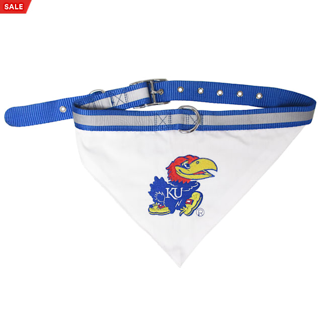 Pets First Kansas Jayhawks NCAA Dog Collar Bandana, Small - Carousel image #1