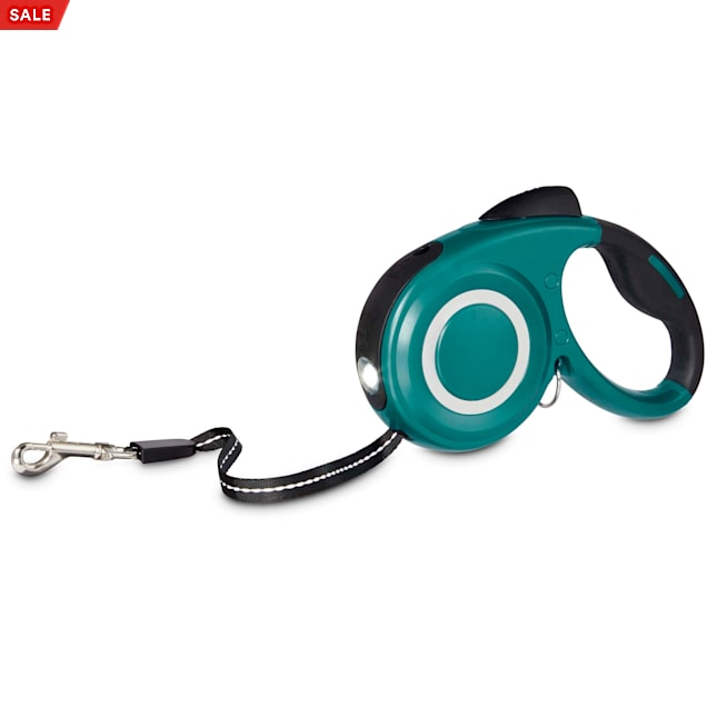 Good2Go Teal Retractable Lead With Flashlight For Dogs, Small - Carousel image #1