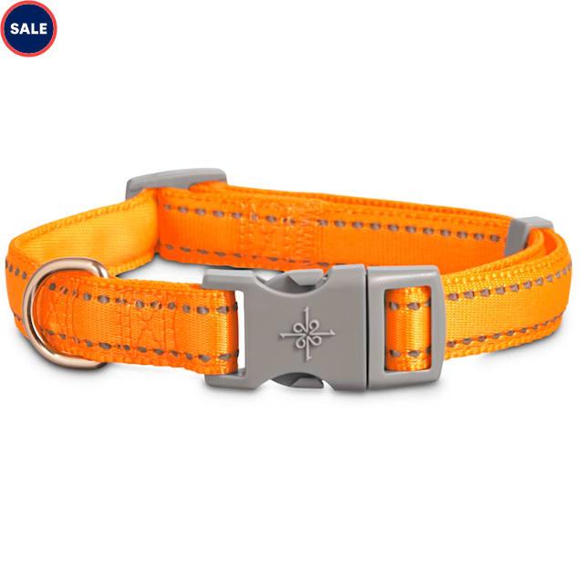 Good2Go Reflective Adjustable Padded Dog Collar in Orange, Large/X-Large - Carousel image #1