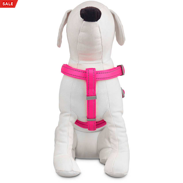 Good2Go Reflective Adjustable Padded Dog Harness in Pink, Large/X-Large - Carousel image #1