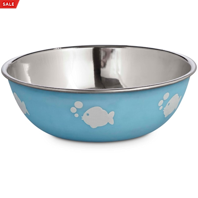 Harmony Blue Stainless Steel Cat Bowl, 1 Cup - Carousel image #1