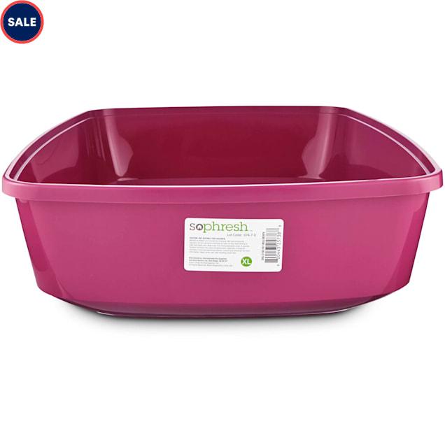 So Phresh Mulberry Open Cat Litter Box, X-Large - Carousel image #1